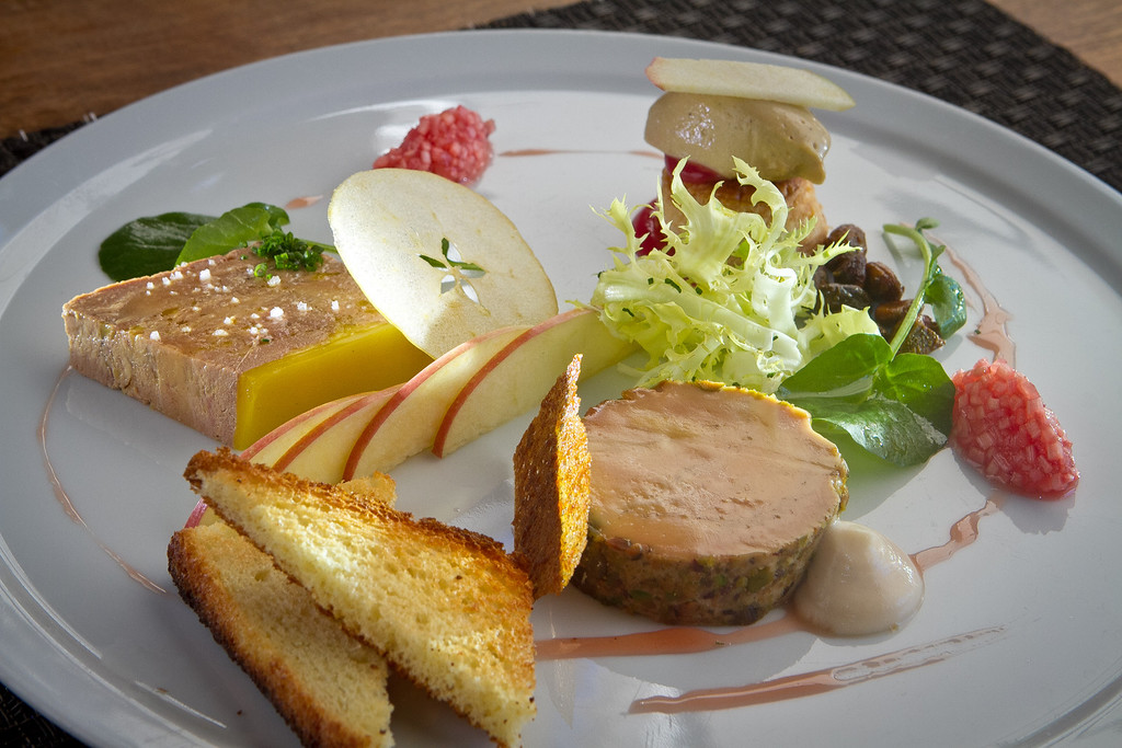 A tasting of Foie Gras at Redd Restaurant in Yountville,  Calif., is seen on Friday, March 9th, 2012.