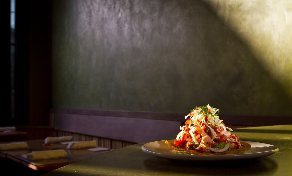 The Tostada with Albacore at Nopalito in San Francisco, Calif., is seen on Saturday, October 27th, 2012.