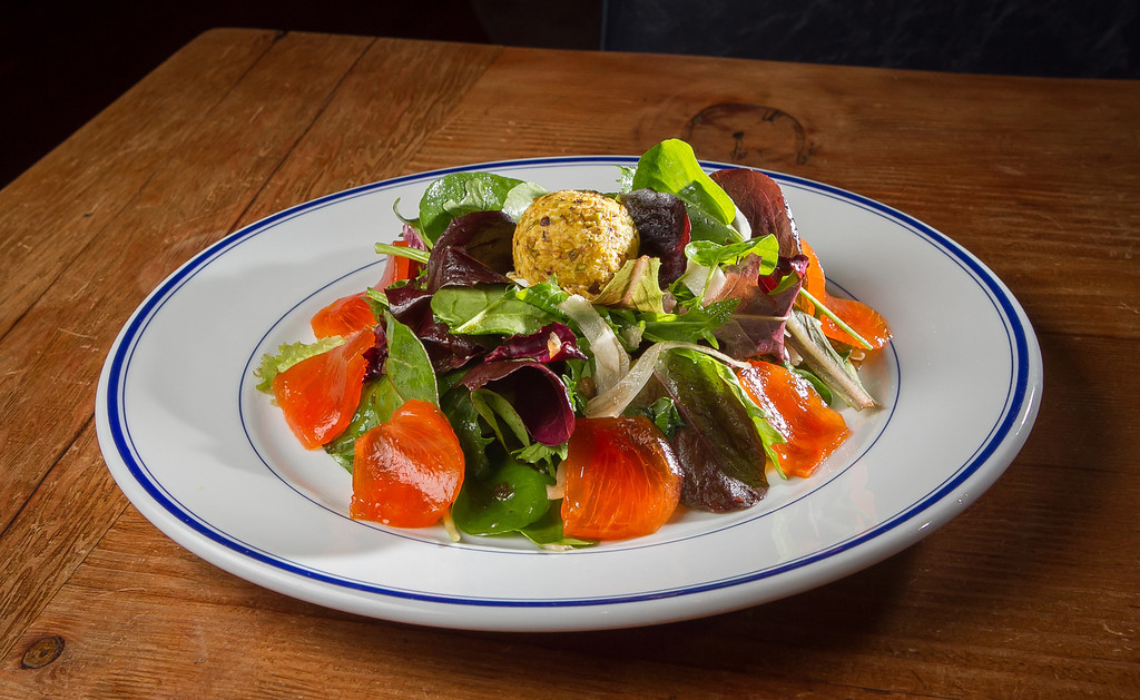 The Persimmon salad at Odalisque restaurant in San Rafael, Calif., is seen on Saturday, January 5th, 2013.
