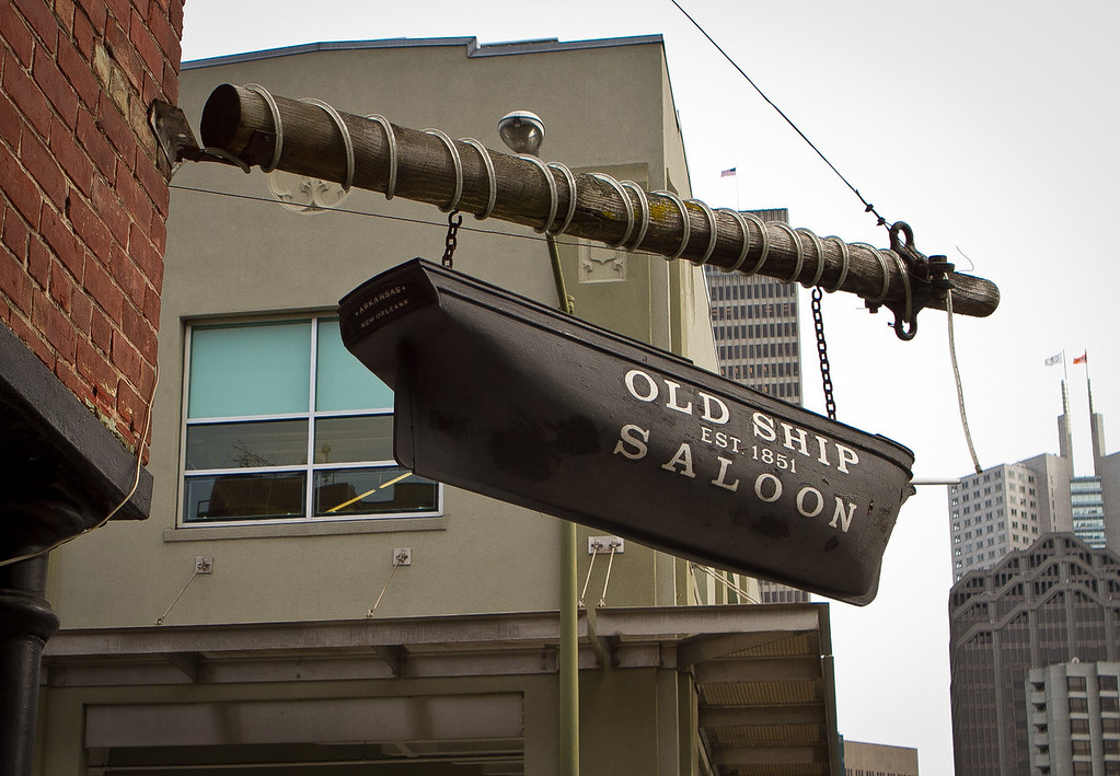 The exterior of the Old Ship Saloon in San Francisco, Calif., is seen on Monday April 2nd, 2012.