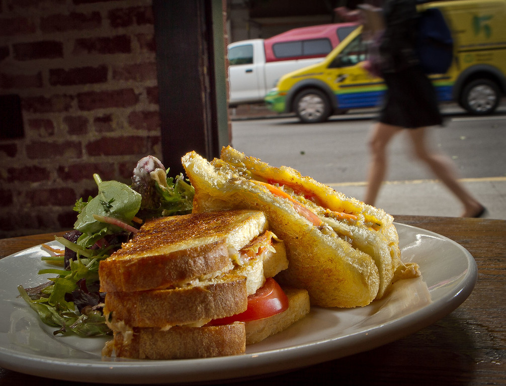 The Ultimate Grilled Cheese Sandwich at the Old Ship Saloon in San Francisco, Calif., is seen on Monday April 2nd, 2012.