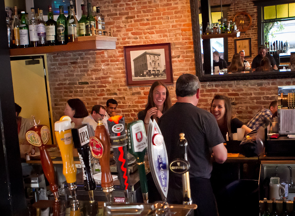Happy Hour at the Old Ship Saloon in San Francisco, Calif., is seen on Monday April 2nd, 2012.