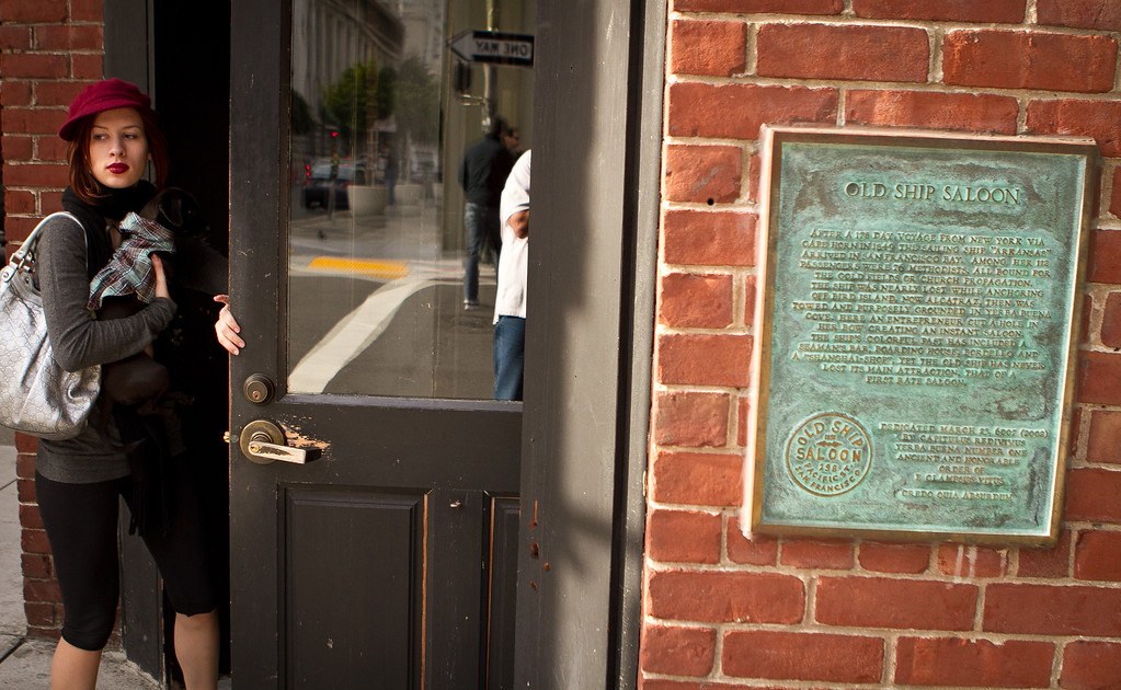 The historic sign outside of the Old Ship Saloon in San Francisco, Calif., is seen on Monday April 2nd, 2012.