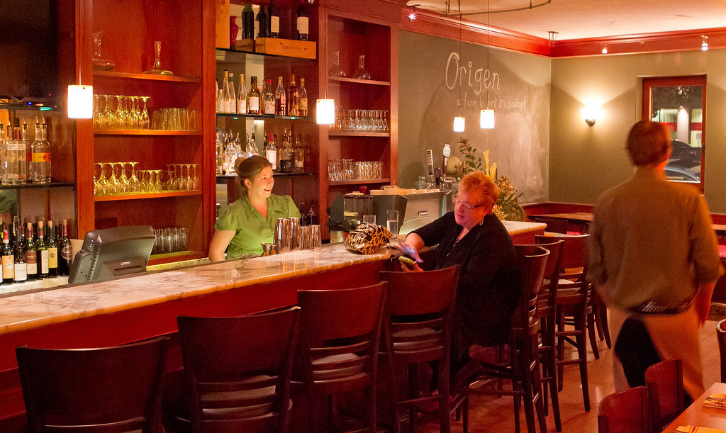 The bar at Origen restaurant in Berkeley, Calif., is seen on Thursday, February 2, 2012.