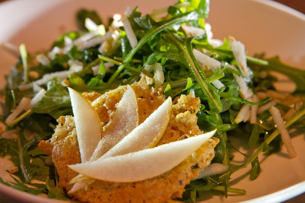 The Arugula Salad at Origen restaurant in Berkeley, Calif., is seen on Thursday, February 2, 2012.