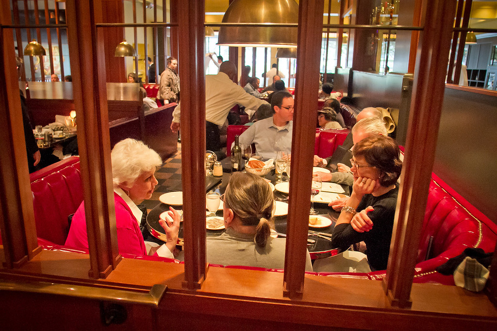 Diners enjoy dinner at Original Joe's Restaurant in San Francisco,  Calif., on Tuesday, March 20th, 2012.