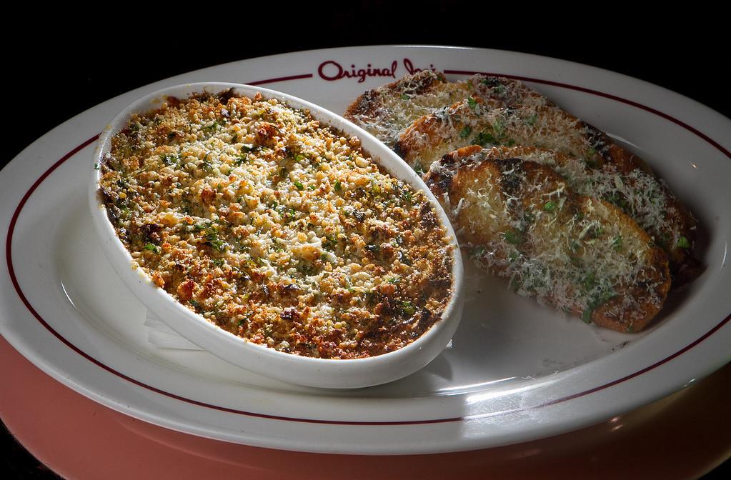 The Spinach & Artichoke Dip with Crostini at Original Joe's Restaurant in San Francisco,  Calif., is seen on Tuesday, March 20th, 2012.