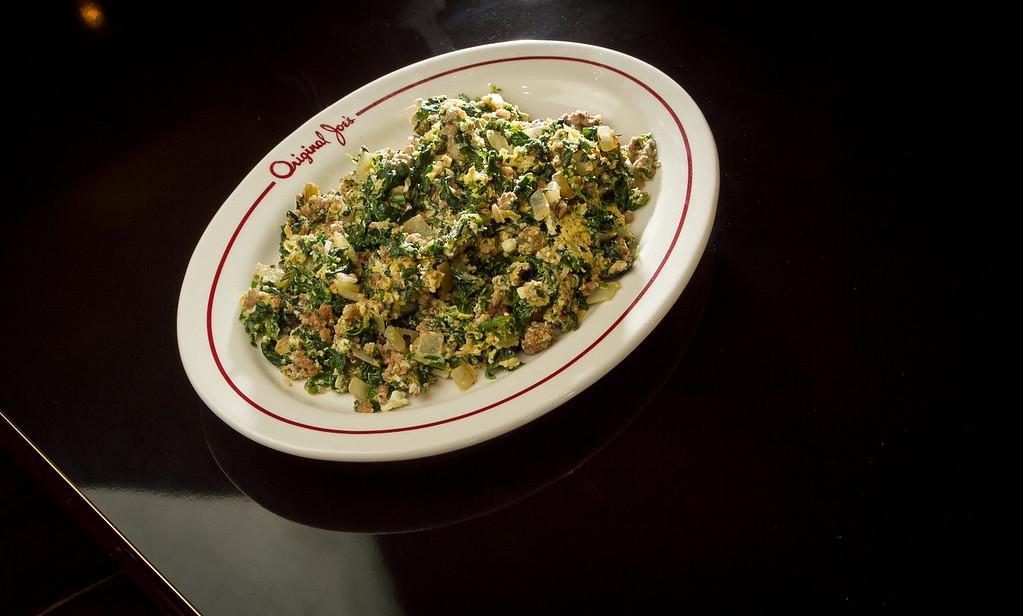 The Joe's Special at Original Joe's Restaurant in San Francisco, Calif., is seen on Thursday, January 26th, 2012.