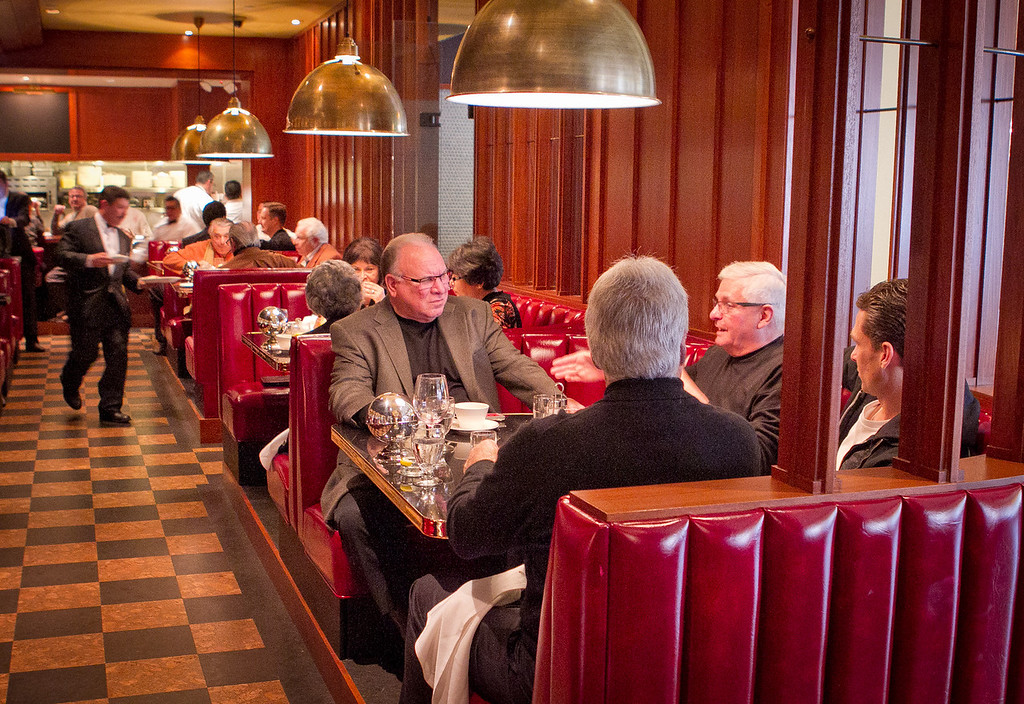 Diners enjoy lunch at Original Joe's Restaurant in San Francisco, Calif., on Thursday, January 26th, 2012.