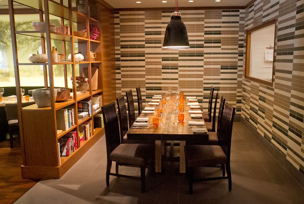 The separate dining room at Parallel 37 restaurant at the Ritz Carlton Hotel in San Francisco, Calif., is seen on Saturday, February 4, 2012.