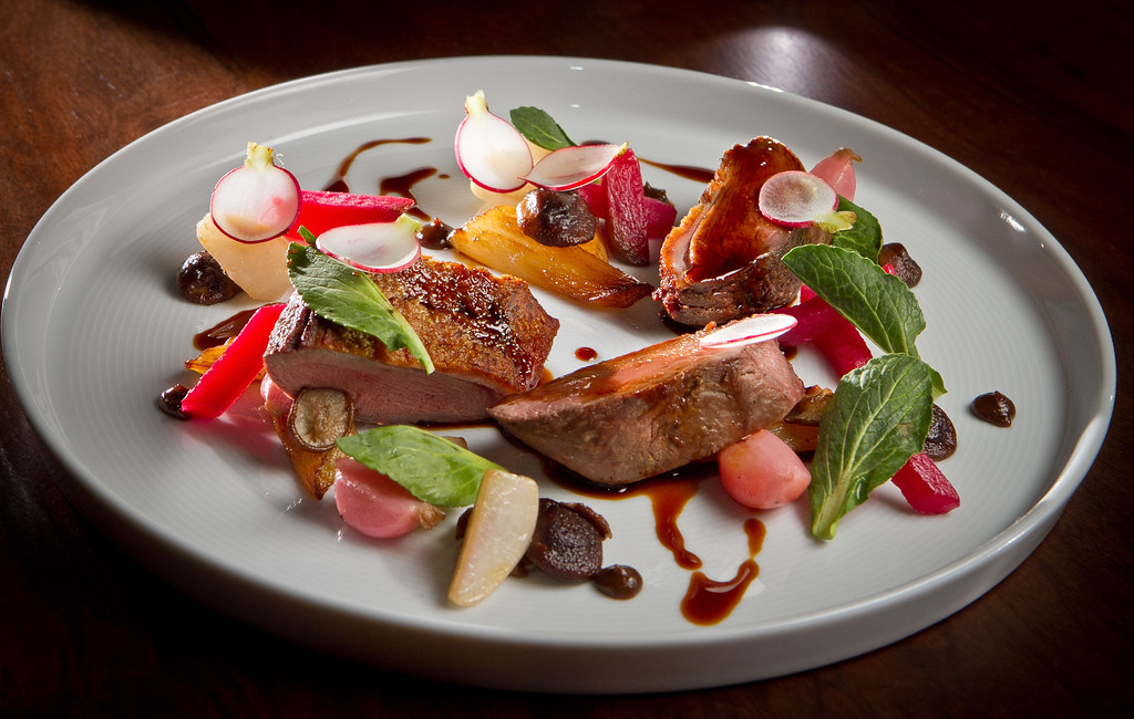 The Sonoma Duck Breast at Parallel 37 restaurant in San Francisco, Calif., is seen on Saturday, February 4, 2012.