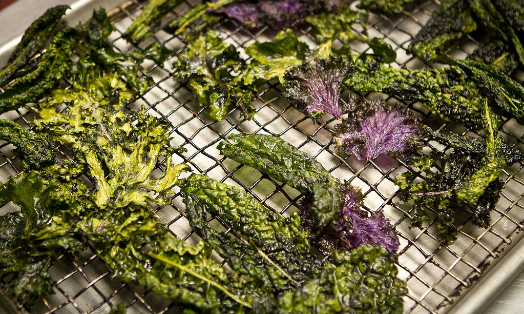 Kale after is was dried in the oven at Parallel 37 restaurant at the Ritz Carlton Hotel in San Francisco, Calif., is seen on Saturday, February 4, 2012.