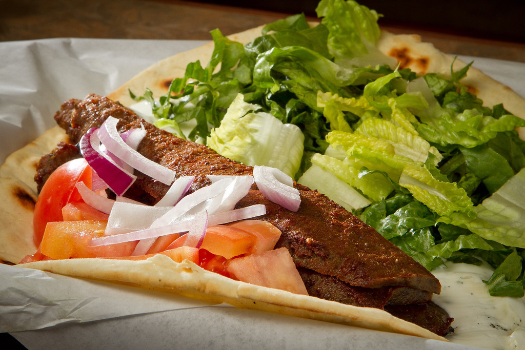 The Gyros Wrap at the Petra Cafe in Orinda, Calif., is seen on Thursday, December 29th, 2011.
