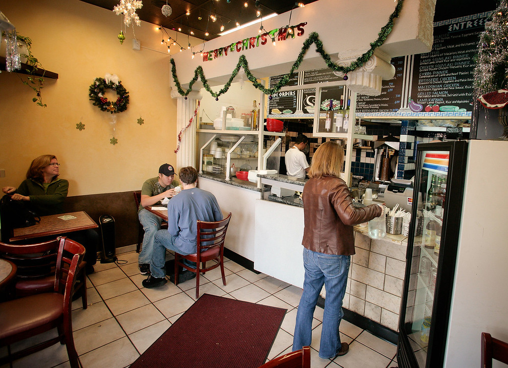 The interior of the Petra Cafe in Orinda, Calif., is seen on Thursday, December 29th, 2011.