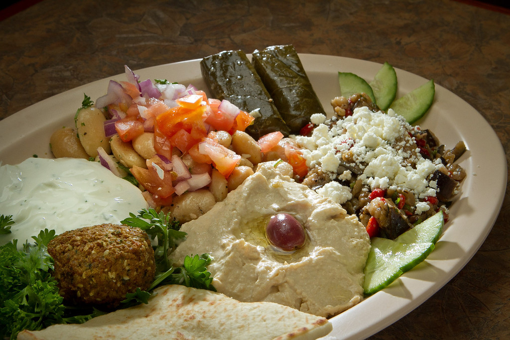 The Greek Platter at the Petra Cafe in Orinda, Calif., is seen on Thursday, December 29th, 2011.