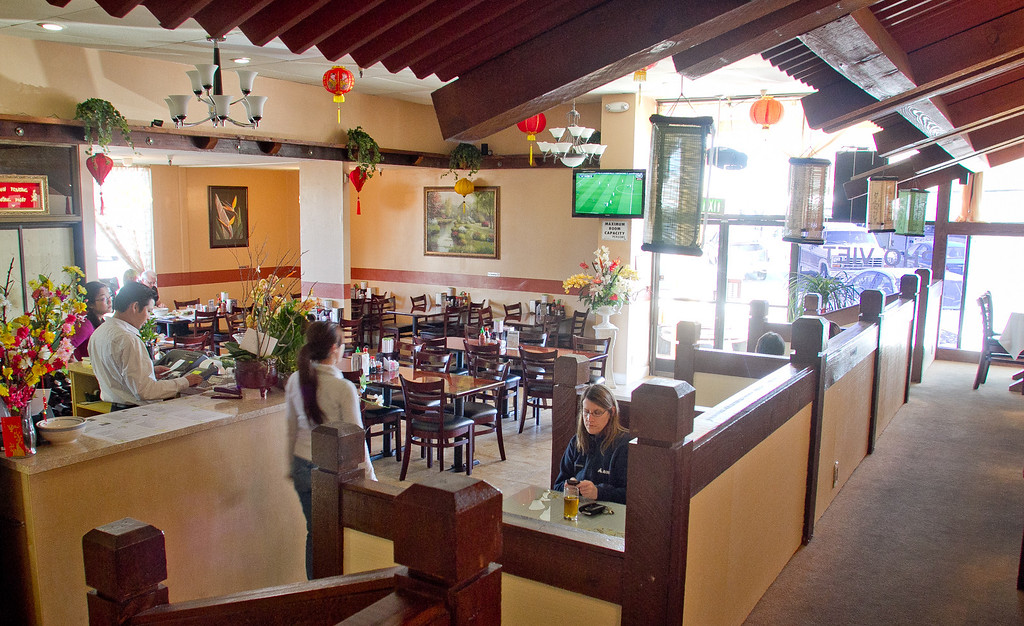 Diners enjoy lunch at Pho Vet Restaurant in San Rafael, Calif., on Wednesday, March 7th, 2012.