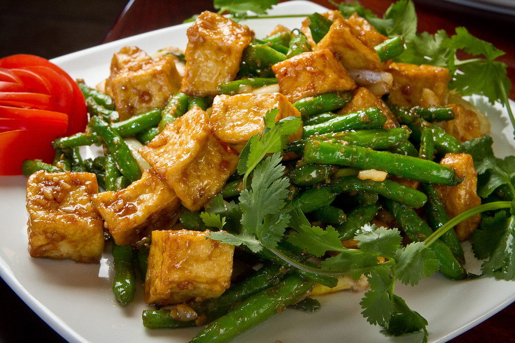 Oyster Sauce Garlic Green Beans with Tofu at Pho Vet Restaurant in San Rafael, Calif., is seen on Wednesday, March 7th, 2012.
