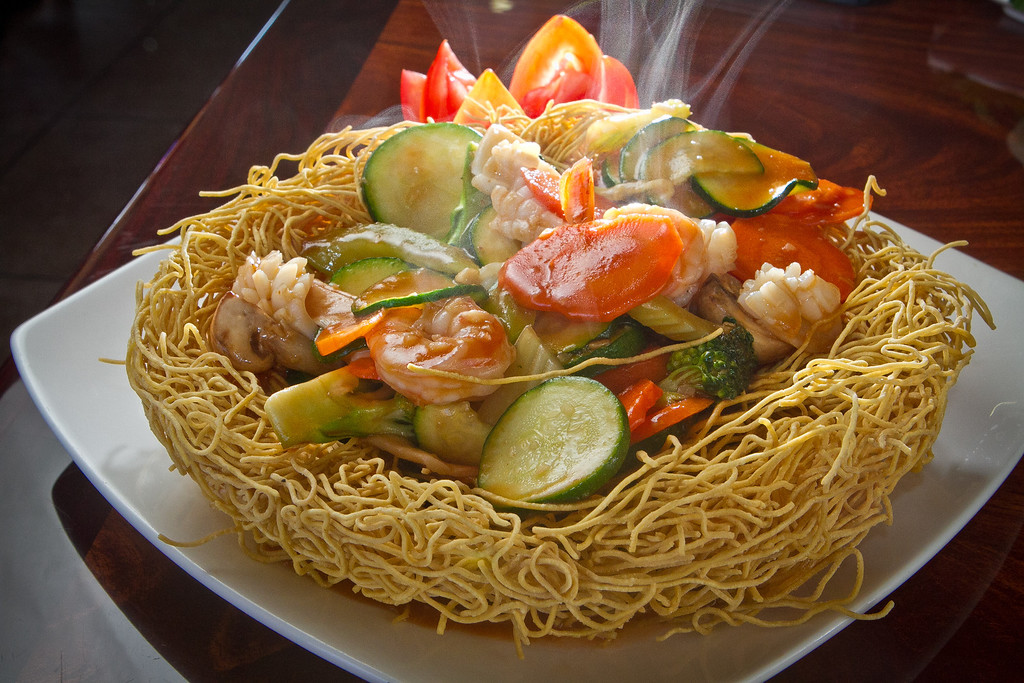 Birds Nest Crispy Egg Noodles mixed with Vegetables at Pho Vet Restaurant in San Rafael, Calif., is seen on Wednesday, March 7th, 2012.