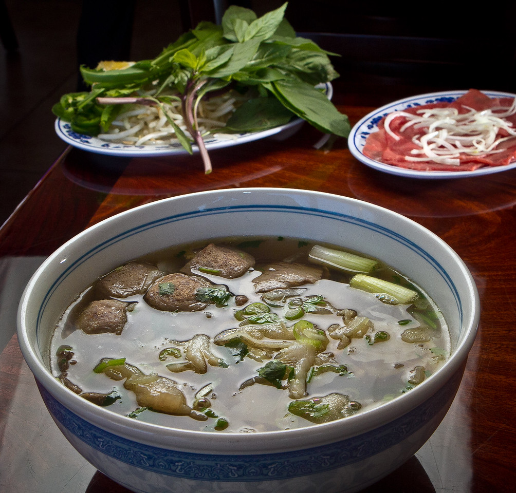 The Special Combo Pho with thin sliced Beef at Pho Vet Restaurant in San Rafael, Calif., is seen on Wednesday, March 7th, 2012.