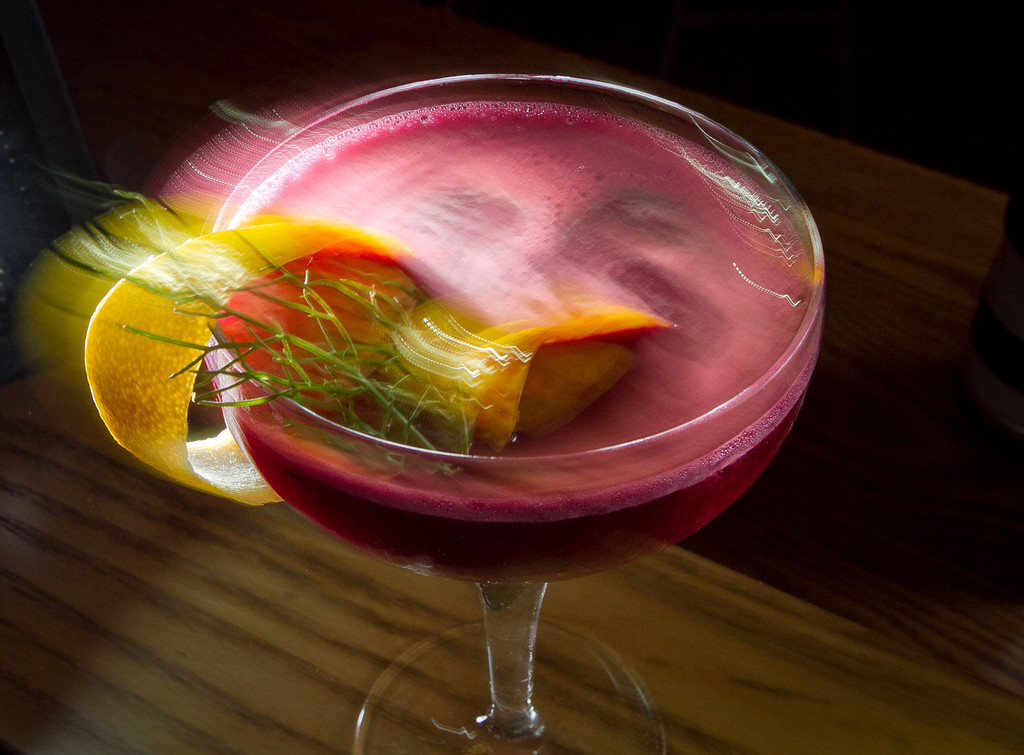 The San Franciscan cocktail at the Plum Bar in Oakland, Calif., is seen on Thursday, January 19th, 2012.