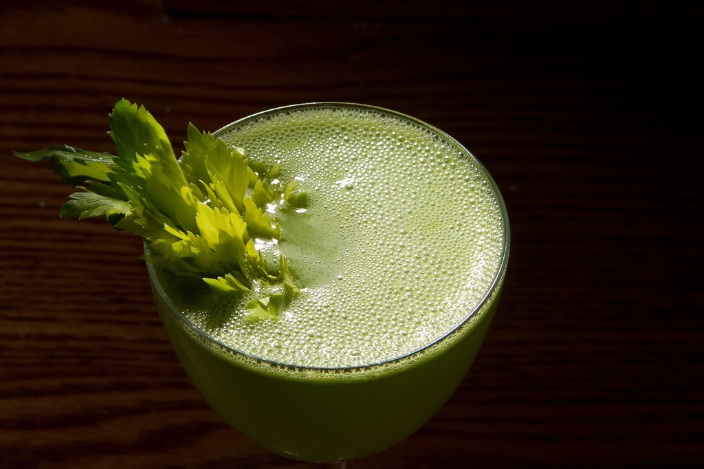 The Celery Stalker cocktail at the Plum Bar in Oakland, Calif., is seen on Thursday, January 19th, 2012.