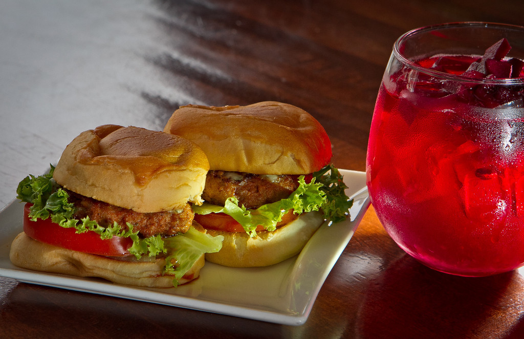 The Chorizo Sliders with a glass of Sangria at Poquito restaurant in San Francisco,  Calif., is seen on Thursday, March 29th, 2012.