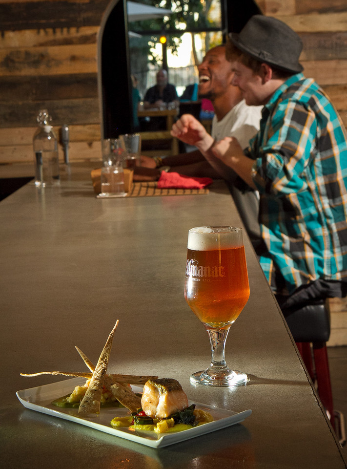 """The """"Dueling Salmon"""" with an East Bay Launch Almanec at Portal Oakland in Oakland, Calif., is seen on Tuesday,  August 28th, 2012."""