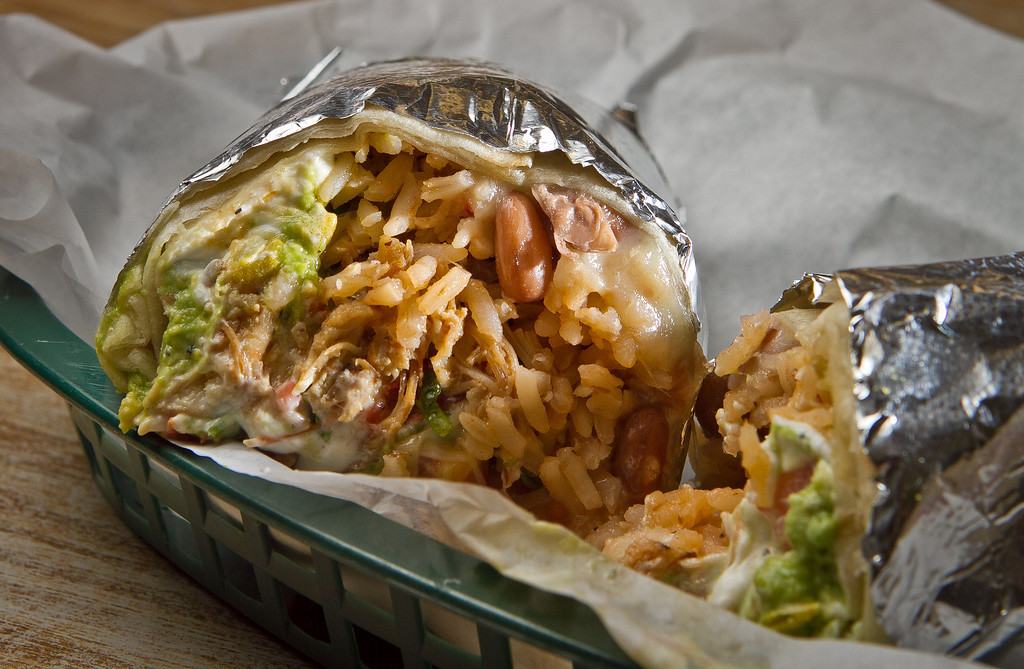 The Super Deluxe Chicken Burrito at Puentez Taqueria  in San Rafael, Calif., is seen on Monday, July 9th, 2012.