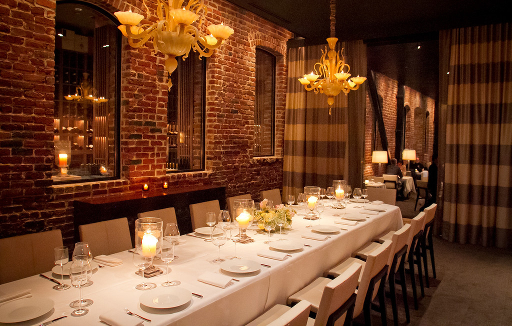 the private dining room at quince restaurant in san francisco calif is seen - Private Dining Rooms San Francisco