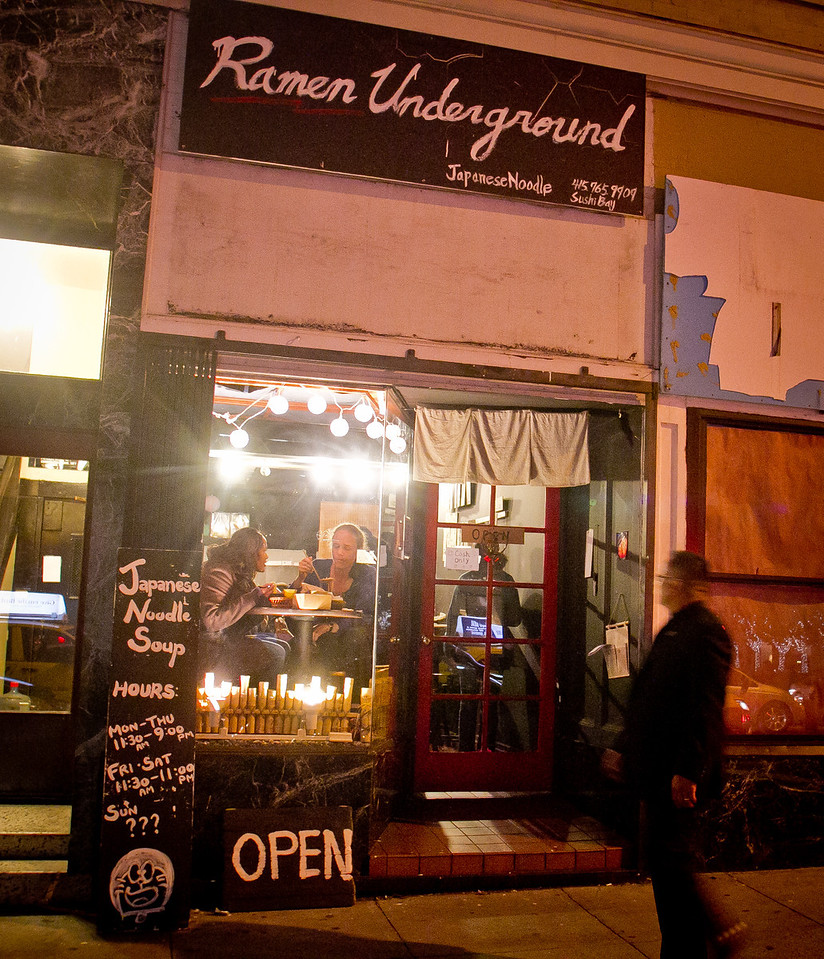 The exterior of the Ramen Underground restaurant in San Francisco, Calif., is seen on Thursday, December 15th,  2011.