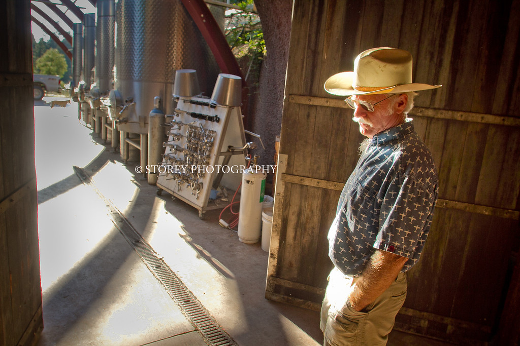 Randy Dunn walks out of his caves at his winery in Angwin, Calif., on Thursday, August 16th, 2012.