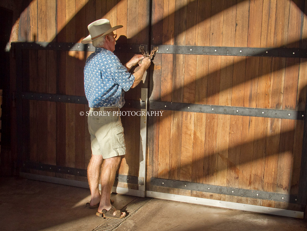 Randy Dunn locks his caves at his winery in Angwin, Calif., on Thursday, August 16th, 2012.