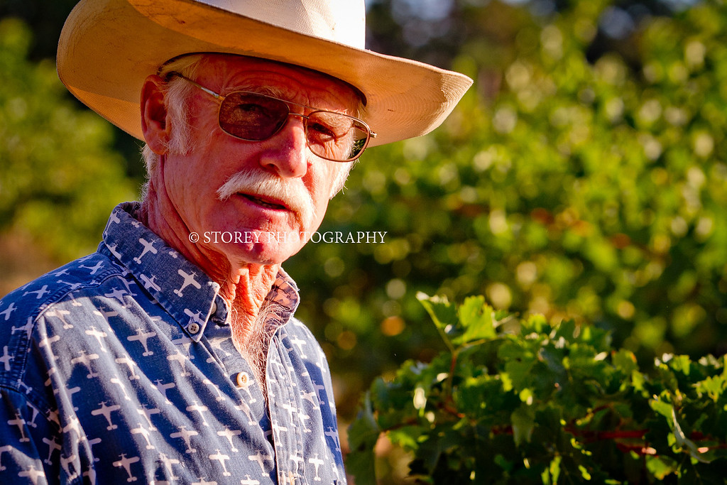 Randy Dunn at his vineyard in Angwin, Calif., on Thursday, August 16th, 2012.