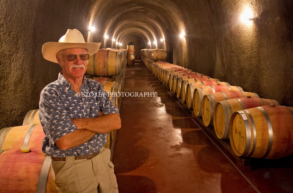 Randy Dunn in his caves at his winery in Angwin, Calif., on Thursday, August 16th, 2012.
