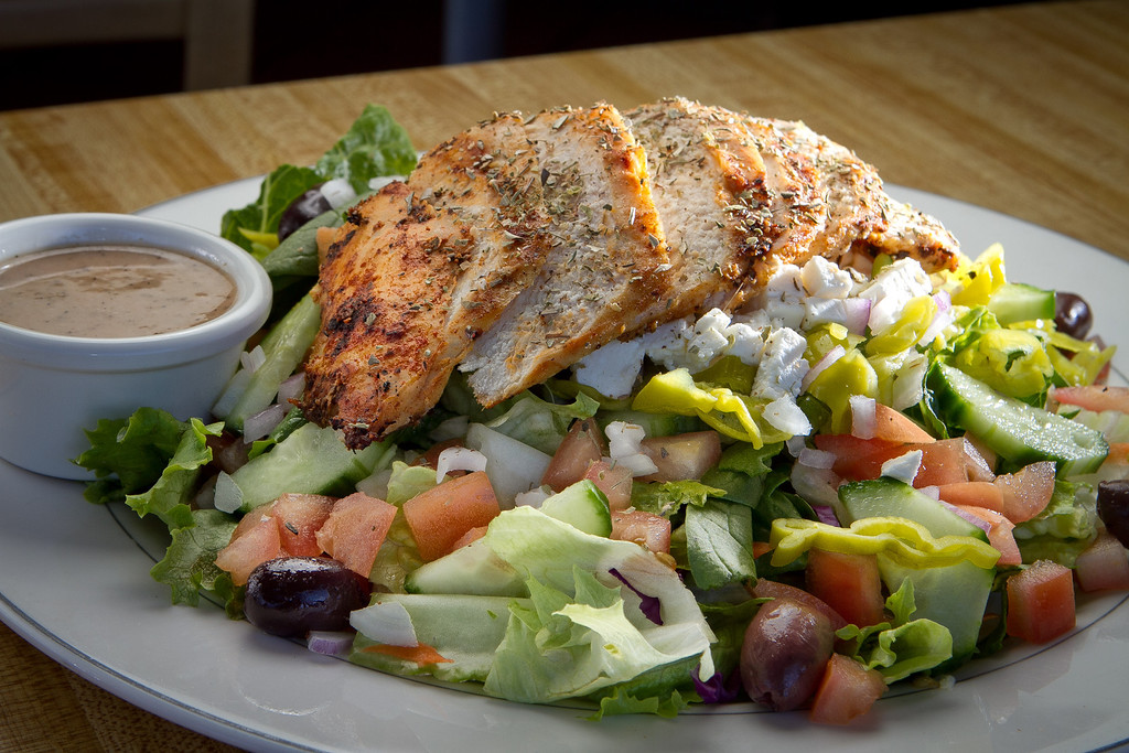 The Greek Chicken Salad at Redwood Cafe in San Rafael, Calif., is seen on Friday, January 27th, 2012.