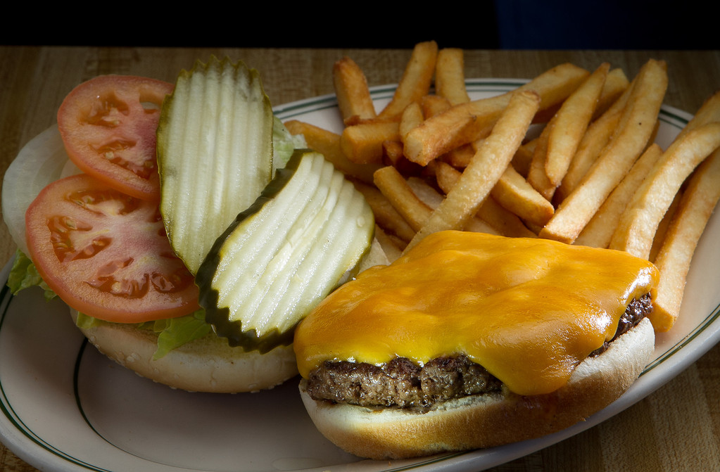 The Cheese Burger at the Redwood Cafe in San Rafael, Calif., is seen on Friday, January 27th, 2012.