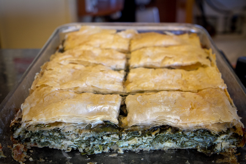 The house-made Spanakopita at Redwood Cafe in San Rafael, Calif., is seen on Friday, January 27th, 2012.