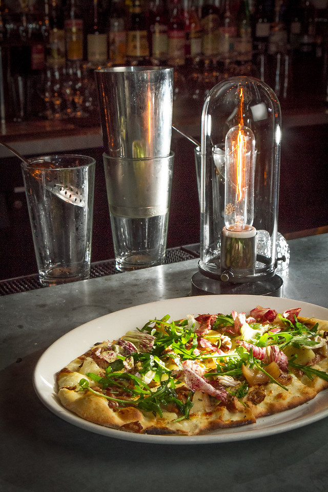 The Roasted Chanterelle Flatbread at Revival Bar & Kitchen in Berkeley, Calif., is seen on Saturday, November 24th, 2012.