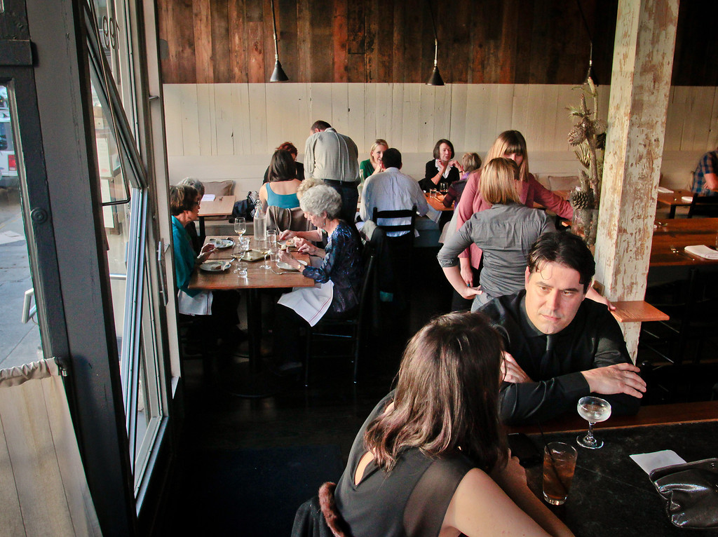 Diners enjoy dinner at Rich Table in San Francisco on Wednesday, September 19th, 2012.