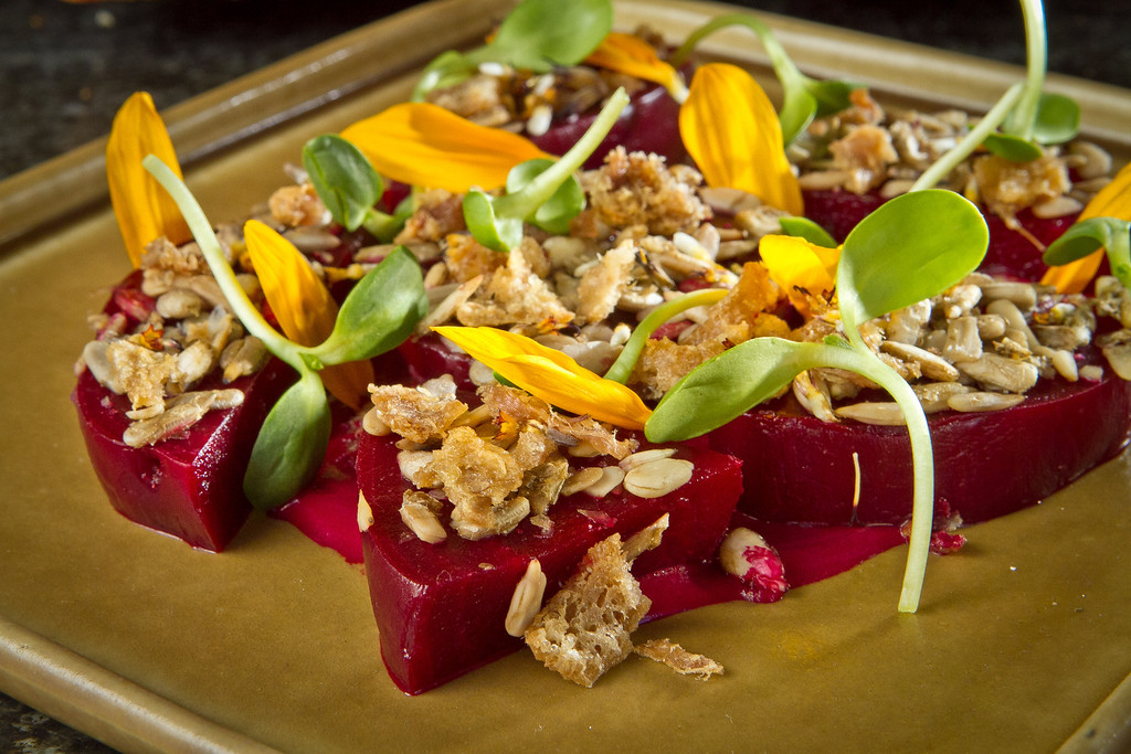The Roasted Beets with Duck Fat Vinagarette atRich Table in San Francisco is seen on Wednesday, September 19th, 2012.