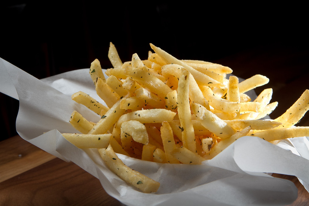 Fries at Roostertail Restaurant in San Francisco Calif., on Thursday, March 1st, 2012.