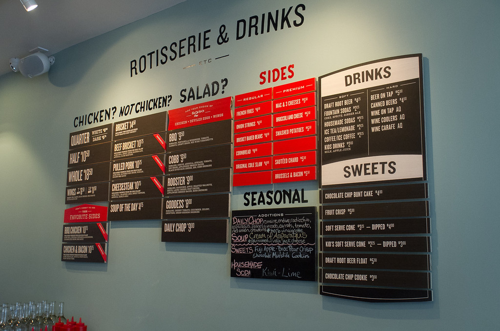 The menu at Roostertail Restaurant in San Francisco Calif., is seen on Thursday, March 1st, 2012.