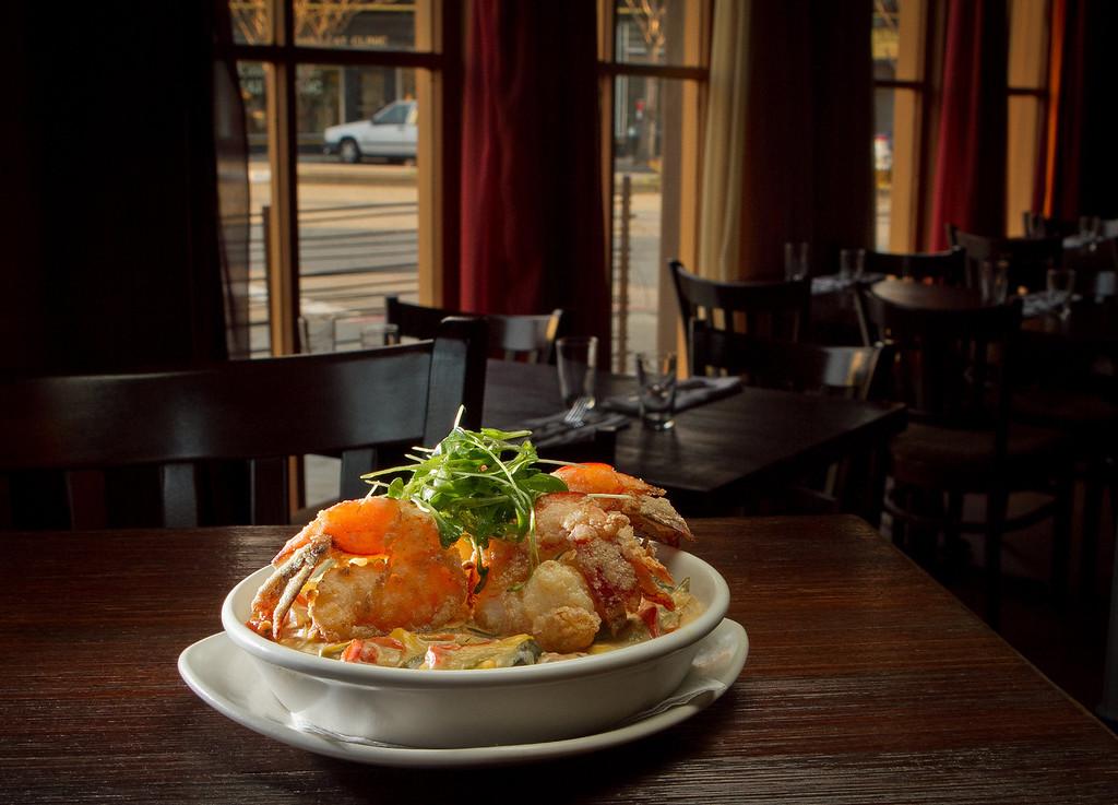The Crispy Gulf Shrimp at Rumbo al Sur Restaurant in Oakland, Calif., is seen on Thursday, January 26th, 2012.