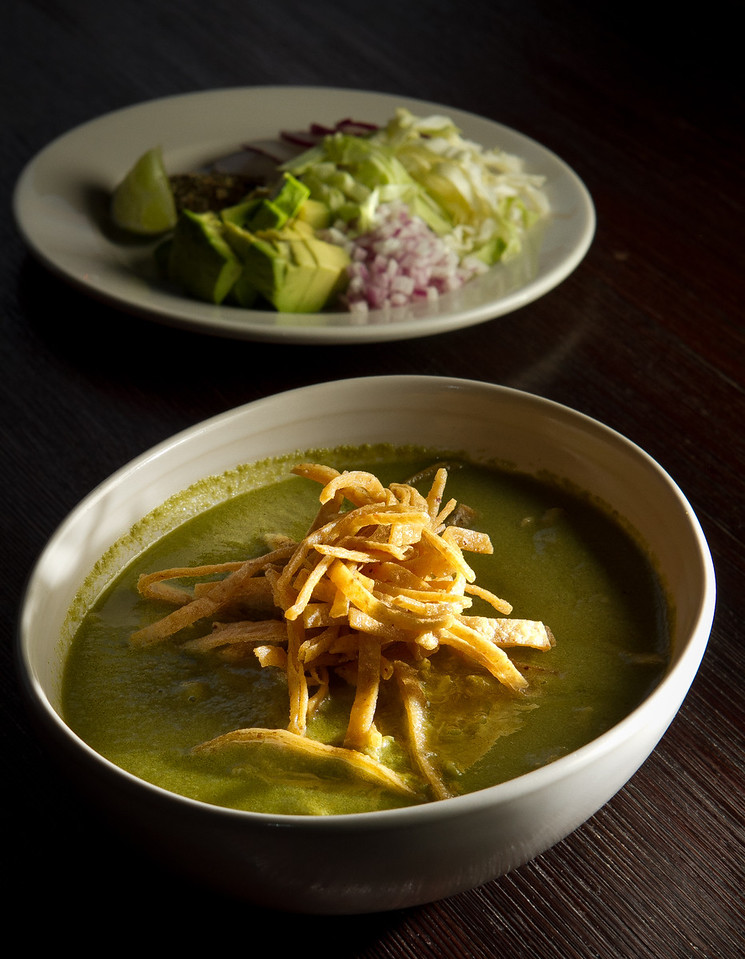 The Pozole Verde at Rumbo al Sur Restaurant in Oakland, Calif., is seen on Thursday, January 26th, 2012.