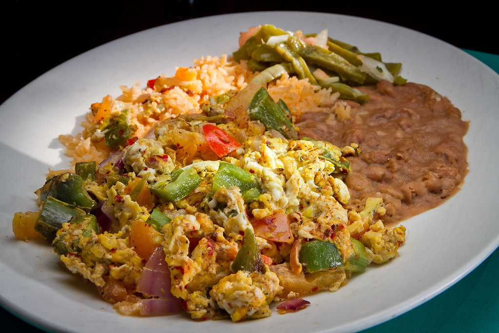 The Huevos a la Mexicana at San Jalisco restaurant in San Francisco is seen on Thursday, January 10th, 2012.