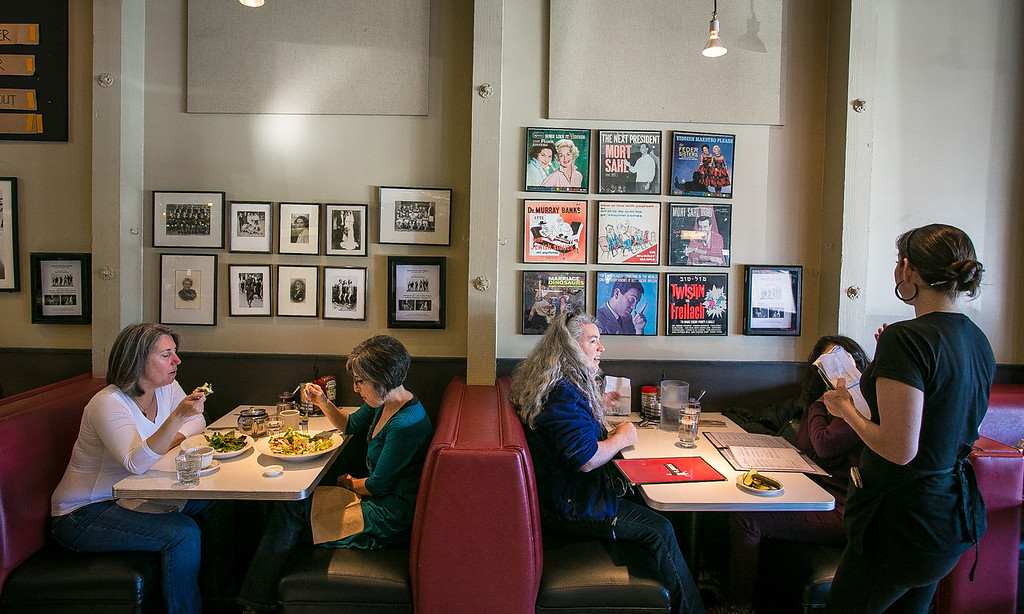 Diners enjoy lunch at Saul's Deli in Berkeley, Calif. on Thursday, January 31st, 2013