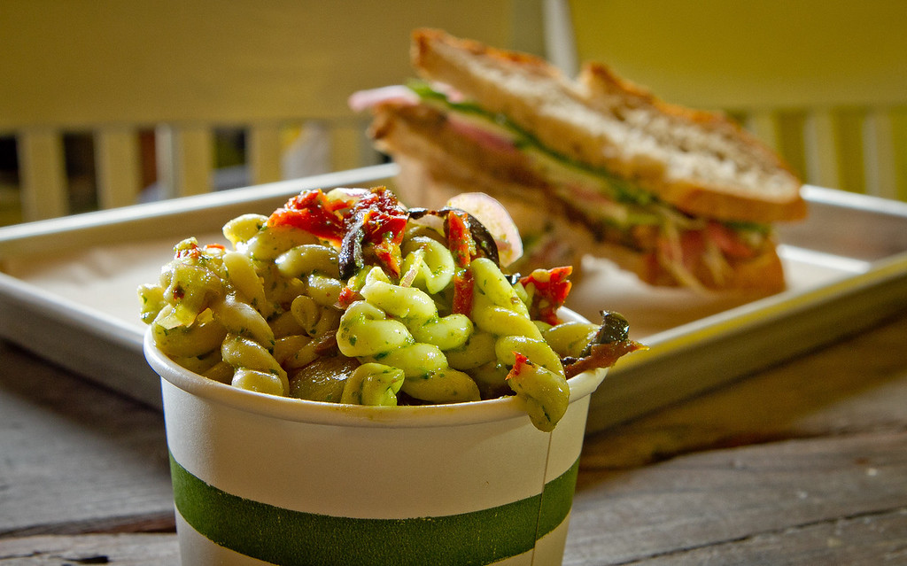 The Gemelli Pasta salad at Slow Restaurant in Berkeley, Calif., is seen on Wednesday May 9th, 2012.