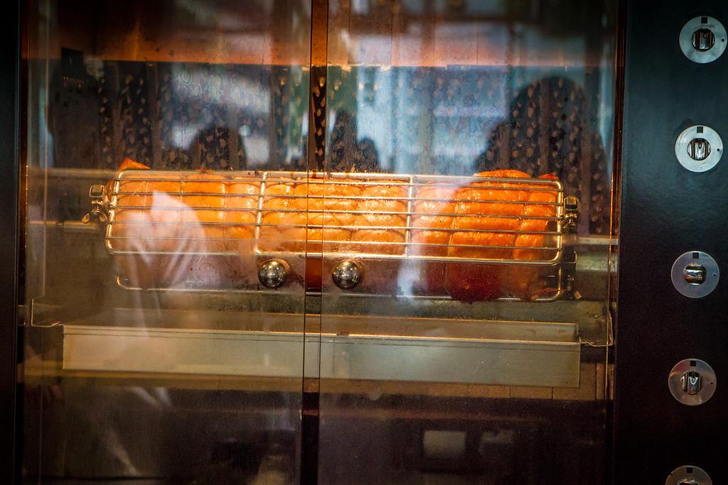 Porchetta on the Rotisserie at Split Bread in San Francisco, Calif., is seen on Friday, November 30th, 2012.