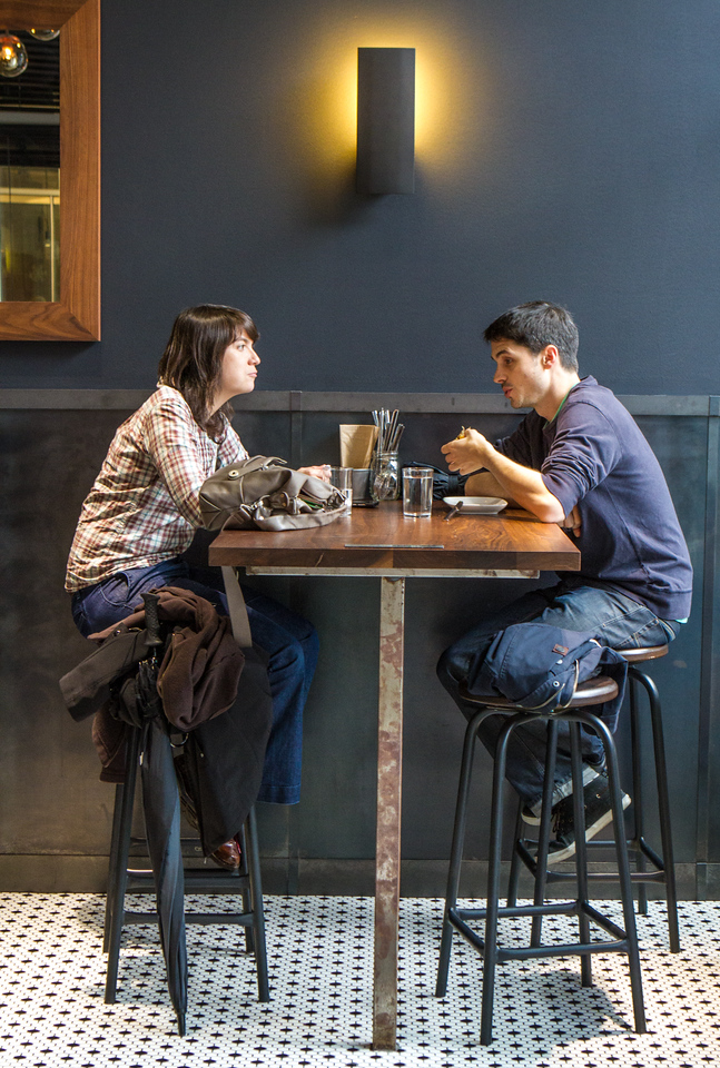 Diners enjoy lunch at Split Bread in San Francisco, Calif., on Friday, November 30th, 2012.