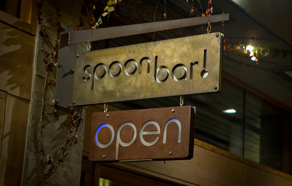 The exterior of Spoon Bar in Healdsburg, Calif., is seen on Saturday, January 7th,  2012.